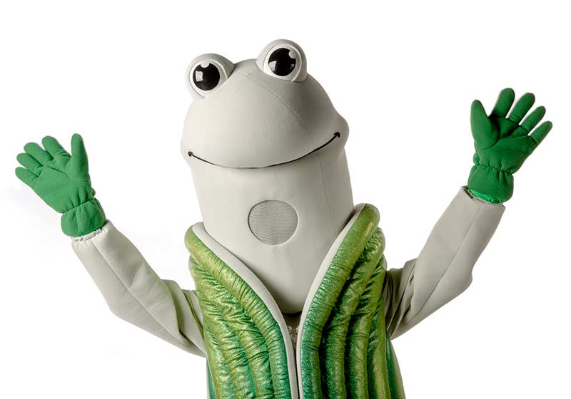 Speedy Q. Geoduck, mascot for The Evergreen State College