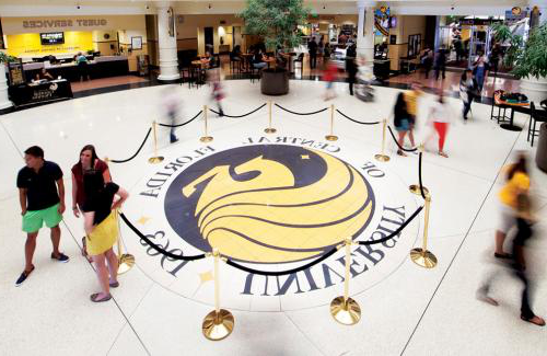 Photo of University of Central Florida Logo on Floor of Building